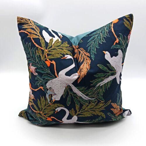 dress2bless Kissenbezug Oriental Birds oriental birds (schwarz) 40x40 cm