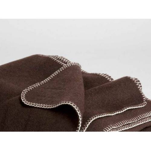 Yumeko Yakwolle Decke Dark Brown 150x200 Cm brown