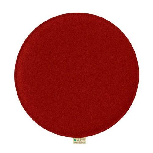 Metz Stylische Sitzkissen Violan Circle 33 Cm red