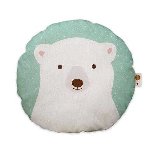 TELL ME Kleines Kissen Eisbär Aus Bio-baumwolle