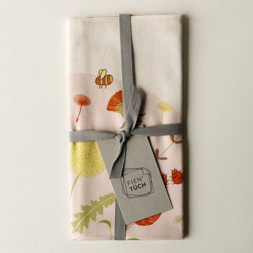 Fien' Tüch Furoshiki Tuch - Verpacken Und Mehr wiese (rosa) S