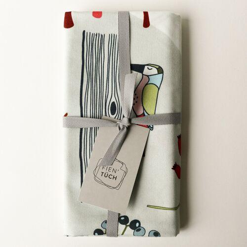 Fien' Tüch Furoshiki Tuch - Verpacken Und Mehr wald (grün) L