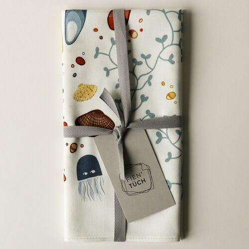 Fien' Tüch Furoshiki Tuch - Verpacken Und Mehr meer (blau) S