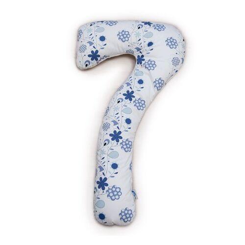 Theraline My7 Seitenschläferkissen, Stillkissen Dessin Blumenranke 100 % Baumwolle 150 Cm x 80 Cm
