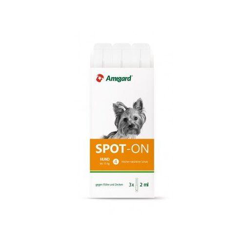 Amigard Spot-on Für Hunde, Natürlicher Zeckenschutz & Flohschutz  bis 15kg