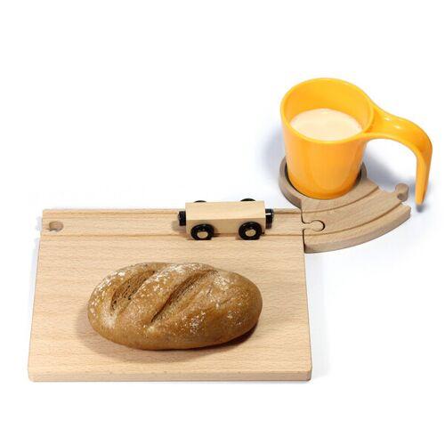 Neue Freunde Eisenbahn Frühstücksset gelb