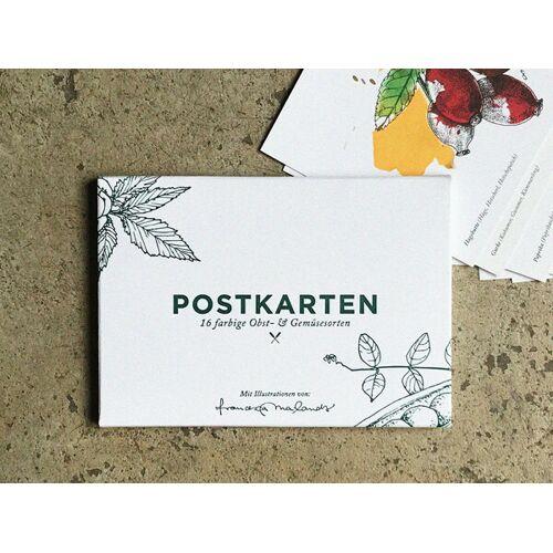 Kupferstecher.Art Postkartenset, 16 Obst Und Gemüse Postkarten