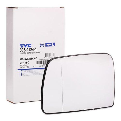 TYC Außenspiegelglas 303-0124-1 Spiegelglas,Spiegelglas, Außenspiegel BMW,X5 E53