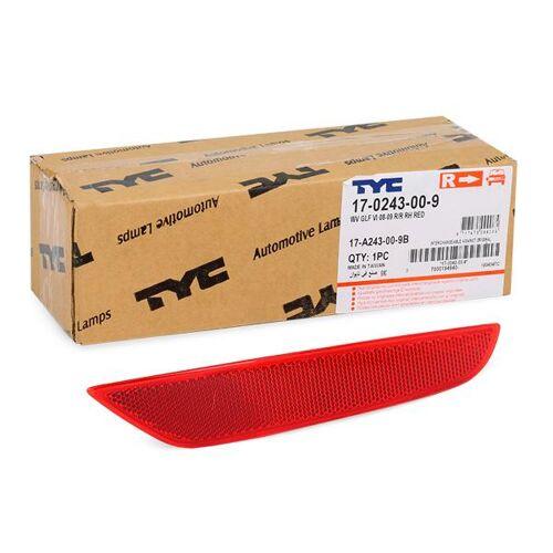 TYC Rückstrahler 17-0243-00-9  VW,GOLF VI 5K1