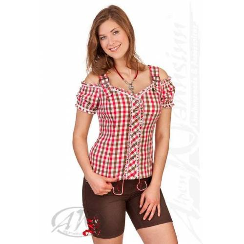 Spieth & Wensky Trachtenhose Damen - NIDDA, Rot, 36