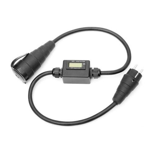 Kalthoff Mobiler MID Stromzähler mini - LCD Display - 1,1m - Schutzkontakt Ein/Aus - 16A/230V