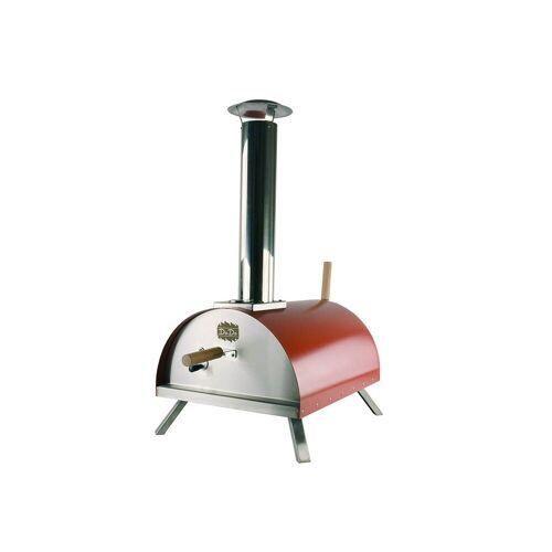 """CADAC Pizzaofen """"DADA"""" rot, Doppelwandiger Pellet-Steinbackofen - bis 450°C"""