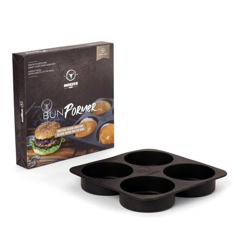 MOESTA Burger BunFormer - Silikon-Backform für Burgerbrötchen - 4er Form