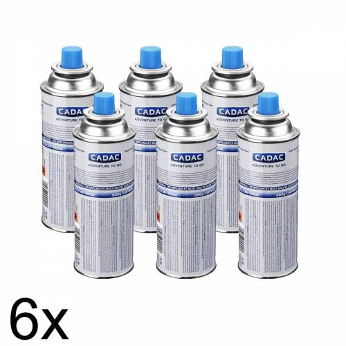 CADAC 6 x CADAC CAN220 Butan/Propan Kartusche mit SSN-29 Gewinde - 220g