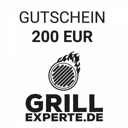 GRILL-EXPERTE.de GUTSCHEIN 200 EUR Warenwert