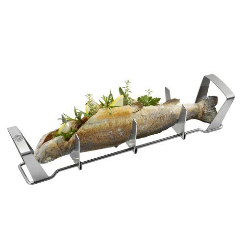 GEFU Fischhalter BBQ - Edelstahlgestell für Fische bis 35cm