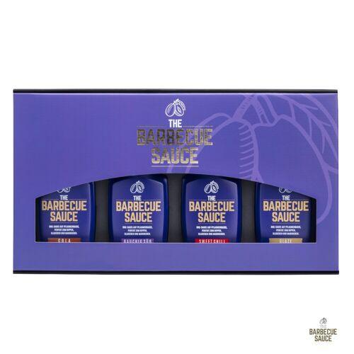 The-Barbecue-Sauce THE BARBECUE SAUCE - 4er Geschenkset - auf Pflaumenbasis - Das perfekte BBQ Geschenk