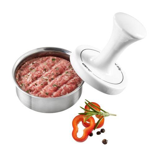 GEFU Party Burgerpresse - für 60g Mini Burger - Edelstahl/Porzellan - D: 8cm
