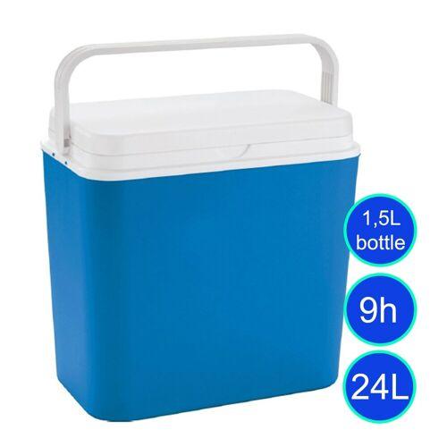 GORANDO Kühlbox 24 Liter - bis 9h kalte Getränke - 39x24x39cm - 1,6kg