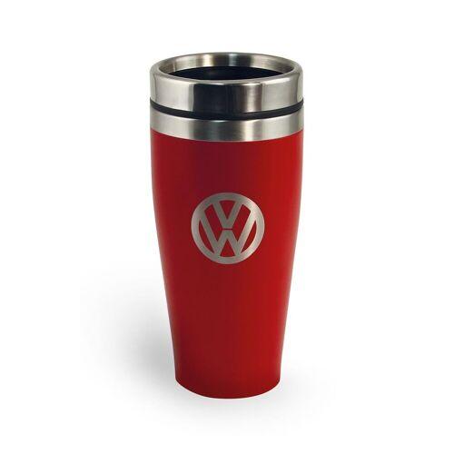 "VW Collection Thermobecher 400ml ""VW Volkswagen rot"" - Anti-Rutsch Boden - Doppelwandig - 18/8 Edelstahl"