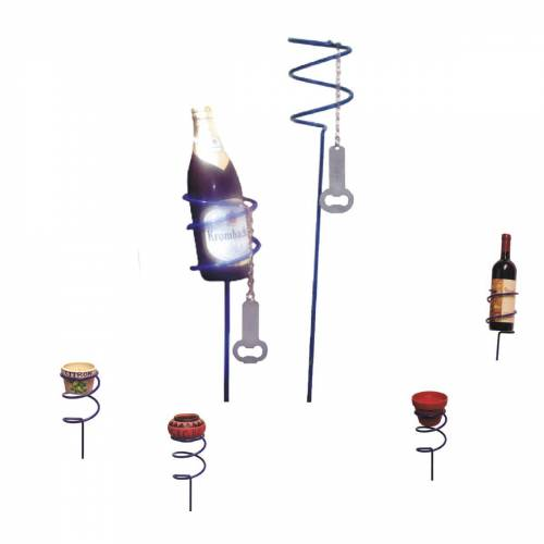 GORANDO Bierflaschenhalter SPIRAL - inkl. Flaschenöffner - 100cm