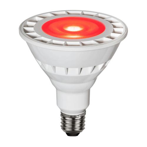 StarTrading Garten-Spot-Leuchtmittel Rot   LED   Uplight   E27   PAR38   15W   35°
