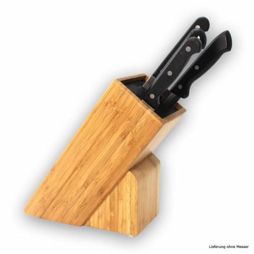GRILL-EXPERTE.de Messerblock Holz mit Einsatz - für Messer bis 22cm - Mit Kunststoffeinsatz