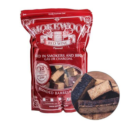 Smokewood Rotwein Mini Blocks - Räucherholz aus alten Weinfässern