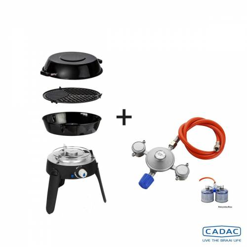CADAC SAFARI CHEF 2 LITE LP POWER-KIT - 50mBar - Topfständer, Grillrost, Pfanne/Deckel, Power KIT