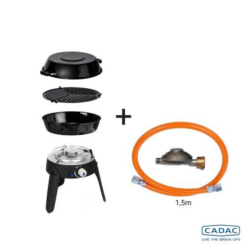CADAC SAFARI CHEF 2 LITE LP CONNECT KIT - 50mBar - Topfständer, Grillrost, Pfanne/Deckel, Reglerkit