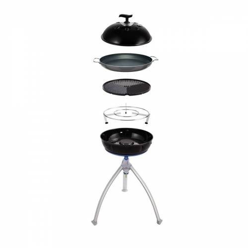 CADAC GRILLO CHEF 2 BBQ/PAELLA - 50mbar - inkl. Grillrost, Deckel, 36cm Paellpfanne und Topfständer