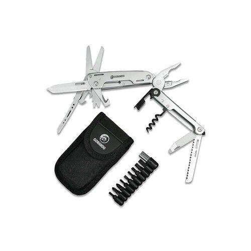 GORANDO® Multitool – 16in1 CITY JUNGLE   Multifunktions Taschenmesser   Edelstahl   große Schere
