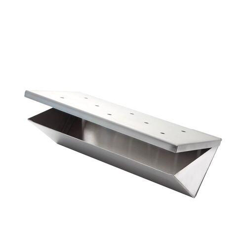 GRILL-EXPERTE.de Edelstahl Räucherbox / Smokerbox in V-Form - Für Holz- & Gasgrill