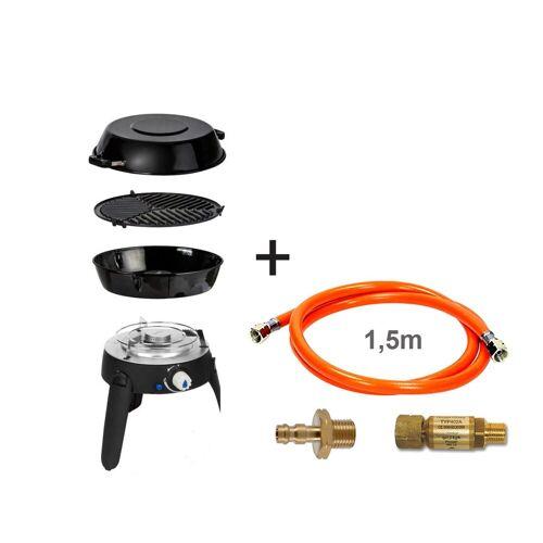 CADAC SAFARI CHEF 2 LITE LP CONNECT KIT - 30mBar - Topfständer, Grillrost, Pfanne/Deckel, Schlauch