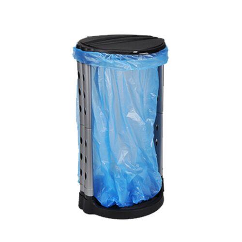 HI Müllsackständer - Deckel - Kunststoffrahmen - für 120 Liter Müllsäcke