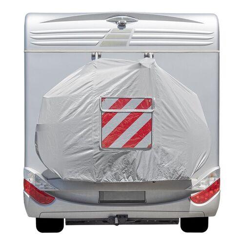 ProPlus Fahrradschutzhülle XL für 2 Fahrräder - weiß - mit Sichttasche für Warnschild