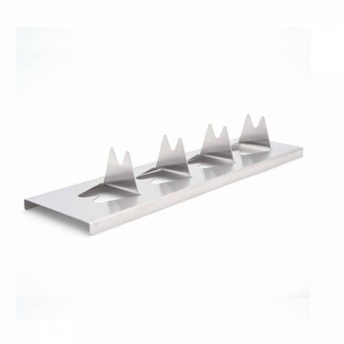 GRILL-EXPERTE.de Kartoffel-Rack - Halter für Kartoffel & Co aus Edelstahl - 30 x 8 x 4,5cm - Potato Rack