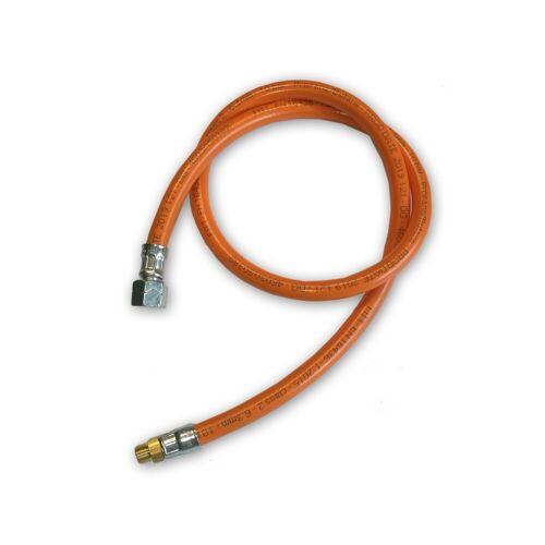 """TGO Gasschlauch Mitteldruck orange - 1 Meter - 6,3x3,5mm, G3/8"""" LH-ÜM x AG 7/16""""x28 UNEF"""