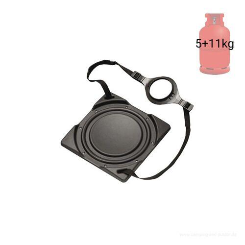 YOUCAMP Gasflaschenhalter Bodenplatte mit Gurtsystem - für 5 & 11kg Gasflaschen