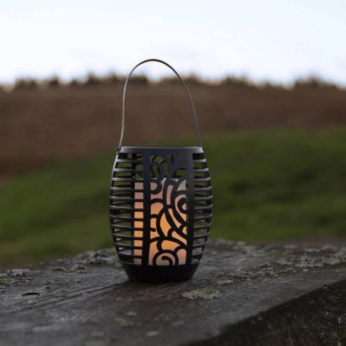 "StarTrading LED Solar Fackel ""Flame"" - Laterne/Windlicht/Fackel - gelbe LED - H: 42cm - Dämmerungssensor"