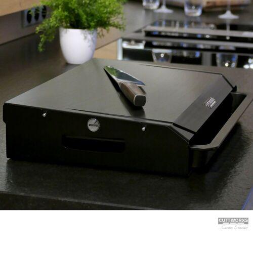 CUTTWORXS - Black 'n Wood Pure Black - 20mm HD-PE500 Platte - 44x30mm - Profi Arbeitsstation
