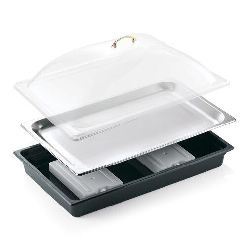 W-A-S Kühlschale GN 1/1 inkl. Haube, Kühlakku und Tablett aus Edelstahl