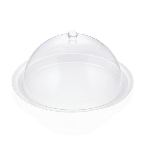 W-A-S Abdeckhaube rund - transparent 38cm - Acryl - ideal für Buffet und Gartentisch
