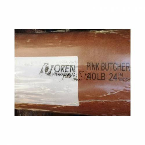OREN Butcher Paper Original - 40m Kraftpapier Rolle - BBQ Papier - Pink Butcher