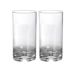 gimex 2 x Longdrinkglas aus bruchfestem Polycarbonat - 550ml