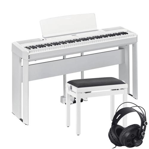 Yamaha P-515 Stage-Piano Weiß - Komplettes Set-Up mit Klavierbank und Kopfhörern