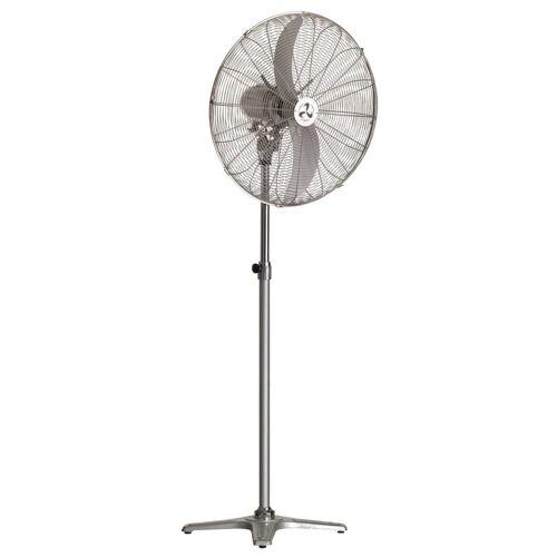Casafan Windmaschine Chrom , Hochleistungs, 65 Cm, 123 Watt, Höhe 158 Cm, ultra leistungsstark.