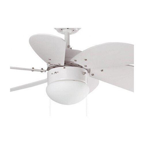 Faro PALAO – moderner Deckenventilator, weiß, mit Licht, 81 cm