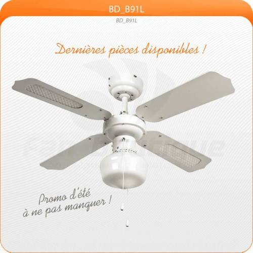LBA Home Deckenventilator 91 cm, ideal für 9-13m², Vorwärts- und Rückwärtslauffunktion