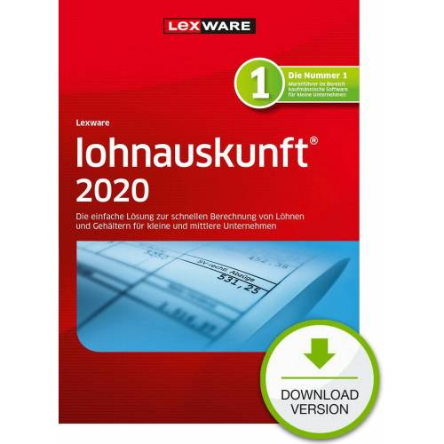 Lexware Lohnauskunft Netzwerkversion 2020 365 Tage Laufzeit Download